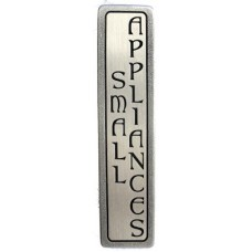 "Small Appliances (Vertical - 2 lines) Drawer Pull (3"" cc) - Antique Pewter (NHP-354-AP) by Notting Hill"