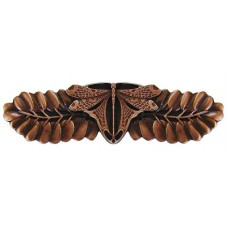 "Dragonfly Drawer Pull (3"" cc) - Antique Copper (NHP-607-AC) by Notting Hill"