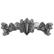 "Cicada on Leaves Drawer Pull (3"" cc) - Antique Pewter (NHP-620-AP) by Notting Hill"