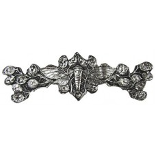 "Cicada on Leaves Drawer Pull (3"" cc) - Brite Nickel (NHP-620-BN) by Notting Hill"