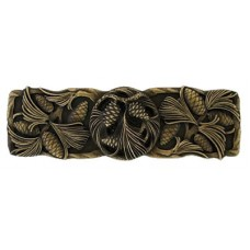 """Cones & Boughs Drawer Pull (3"""" cc) - Antique Brass (NHP-638-AB) by Notting Hill"""