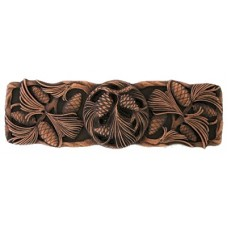 """Cones & Boughs Drawer Pull (3"""" cc) - Antique Copper (NHP-638-AC) by Notting Hill"""