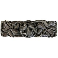"""Cones & Boughs Drawer Pull (3"""" cc) - Antique Pewter (NHP-638-AP) by Notting Hill"""
