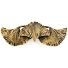 """Ginkgo Leaf Drawer Pull (3"""" cc) - Antique Brass (NHP-647-AB) by Notting Hill"""