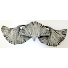 """Ginkgo Leaf Drawer Pull (3"""" cc) - Antique Pewter (NHP-647-AP) by Notting Hill"""