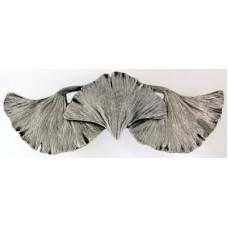 """Ginkgo Leaf Drawer Pull (3"""" cc) - Brite Nickel (NHP-647-BN) by Notting Hill"""