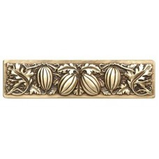 "Autumn Squash Drawer Pull (3"" cc) - Antique Brass (NHP-651-AB) by Notting Hill"