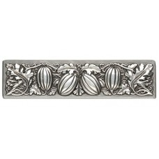 "Autumn Squash Drawer Pull (3"" cc) - Antique Pewter (NHP-651-AP) by Notting Hill"