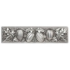 "Autumn Squash Drawer Pull (3"" cc) - Brilliant Pewter (NHP-651-BP) by Notting Hill"