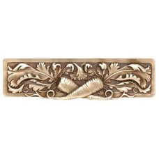 """Leafy Carrot Drawer Pull (3"""" cc) - Antique Brass (NHP-652-AB) by Notting Hill"""