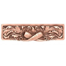 """Leafy Carrot Drawer Pull (3"""" cc) - Antique Copper (NHP-652-AC) by Notting Hill"""