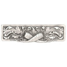 """Leafy Carrot Drawer Pull (3"""" cc) - Antique Pewter (NHP-652-AP) by Notting Hill"""