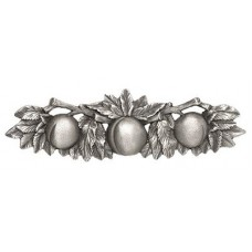 """Georgia Peach Drawer Pull (3"""" cc) - Antique Pewter (NHP-654-AP) by Notting Hill"""