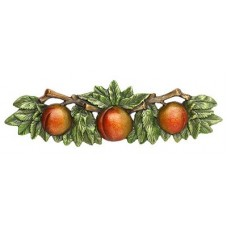 """Georgia Peach Drawer Pull (3"""" cc) - Pewter Hand Tinted (NHP-654-PHT) by Notting Hill"""