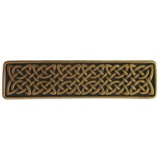 "Celtic Isles Drawer Pull (3"" cc) - Antique Brass (NHP-657-AB) by Notting Hill"