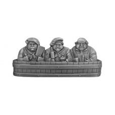 "Rub-a-Dub Drawer Pull (3"" cc) - Antique Pewter (NHP-663-AP) by Notting Hill"