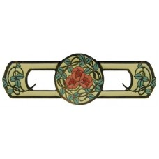 "Delaney's Rose/Yellow Drawer Pull (3"" cc) - Dark Brass (Enameled) (NHP-671-DB-A) by Notting Hill"