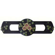 "Delaney's Rose/Coral Drawer Pull (3"" cc) - Dark Brass (Enameled) (NHP-671-DB-D) by Notting Hill"