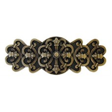 "Chateau Drawer Pull (3"" cc) - Antique Brass (NHP-676-AB) by Notting Hill"