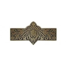 "Dianthus Drawer Pull (3"" cc) - Antique Brass (NHP-678-AB) by Notting Hill"