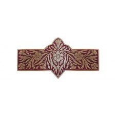 "Dianthus/Cayenne Drawer Pull (3"" cc) - Antique Brass/Cayenne (red) (NHP-678-AB-A) by Notting Hill"
