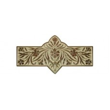 "Dianthus/Saffron Drawer Pull (3"" cc) - Antique Brass/Saffron (yellow) (NHP-678-AB-B) by Notting Hill"