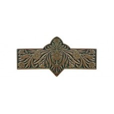 "Dianthus/Sage Drawer Pull (3"" cc) - Antique Brass/Sage (green) (NHP-678-AB-C) by Notting Hill"