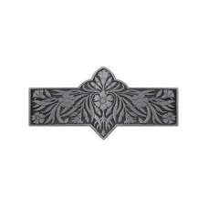 "Dianthus Drawer Pull (3"" cc) - Antique Pewter (NHP-678-AP) by Notting Hill"