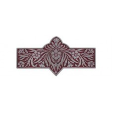 "Dianthus/Cayenne Drawer Pull (3"" cc) - Antique Pewter/Cayenne (red) (NHP-678-AP-A) by Notting Hill"
