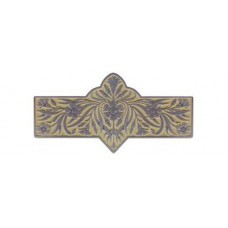 "Dianthus/Saffron Drawer Pull (3"" cc) - Antique Pewter/Saffron (yellow) (NHP-678-AP-B) by Notting Hill"