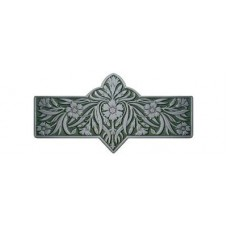 "Dianthus/Sage Drawer Pull (3"" cc) - Antique Pewter/Sage (green)) (NHP-678-AP-C) by Notting Hill"