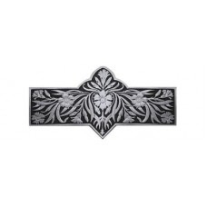 "Dianthus/Black Drawer Pull (3"" cc) - Brilliant Pewter  (NHP-678-BP-D) by Notting Hill"