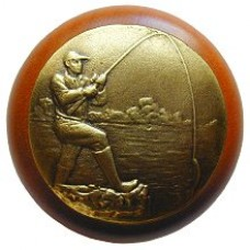 Catch of the Day/Cherry Cabinet Knob - Antique Brass (NHW-707C-AB) by Notting Hill