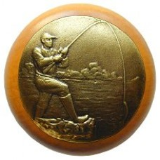Catch of the Day/Maple Cabinet Knob - Antique Brass (NHW-707M-AB) by Notting Hill