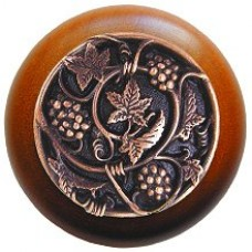 Grapevines/Cherry Cabinet Knob - Antique Copper (NHW-729C-AC) by Notting Hill