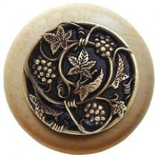 Grapevines/Natural Cabinet Knob - Antique Brass (NHW-729N-AB) by Notting Hill