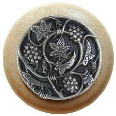 Grapevines/Natural Cabinet Knob - Antique Pewter (NHW-729N-AP) by Notting Hill