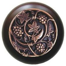 Grapevines/Dark Walnut Cabinet Knob - Antique Copper (NHW-729W-AC) by Notting Hill