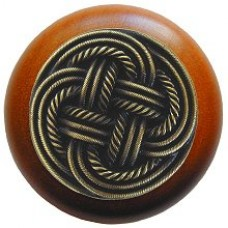 Classic Weave/Cherry Cabinet Knob - Antique Brass (NHW-739C-AB) by Notting Hill