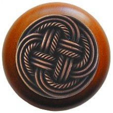 Classic Weave/Cherry Cabinet Knob - Antique Copper (NHW-739C-AC) by Notting Hill