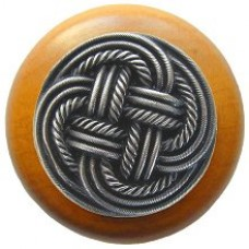 Classic Weave/Maple Cabinet Knob - Antique Pewter (NHW-739M-AP) by Notting Hill