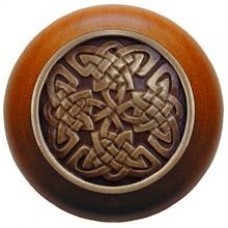 Celtic Isles/Cherry Cabinet Knob - Antique Brass (NHW-757C-AB) by Notting Hill