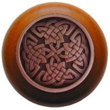 Celtic Isles/Cherry Cabinet Knob - Antique Copper (NHW-757C-AC) by Notting Hill