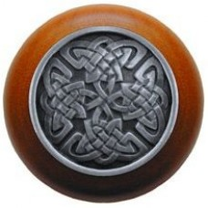 Celtic Isles/Cherry Cabinet Knob - Antique Pewter (NHW-757C-AP) by Notting Hill