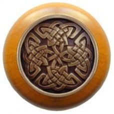 Celtic Isles/Maple Cabinet Knob - Antique Brass (NHW-757M-AB) by Notting Hill