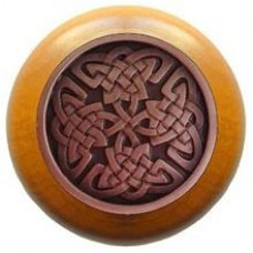 Celtic Isles/Maple Cabinet Knob - Antique Copper (NHW-757M-AC) by Notting Hill