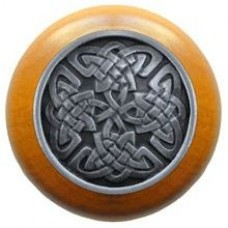 Celtic Isles/Maple Cabinet Knob - Antique Pewter (NHW-757M-AP) by Notting Hill