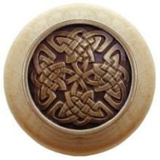 Celtic Isles/Natural Cabinet Knob - Antique Brass (NHW-757N-AB) by Notting Hill