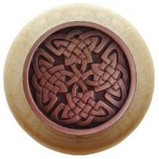 Celtic Isles/Natural Cabinet Knob - Antique Copper (NHW-757N-AC) by Notting Hill