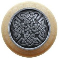 Celtic Isles/Natural Cabinet Knob - Antique Pewter (NHW-757N-AP) by Notting Hill